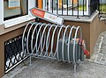 Bicycle rack with air compressor, Randegg.jpg