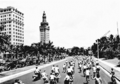 Bikes riding north on Biscayne, 1940s.png