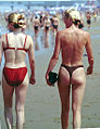 Bikini girls Holland beach 1999.jpg
