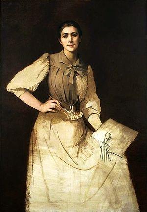 Underdrawing - Anna Bilińska-Bohdanowicz, Self-portrait, 1892, National Museum in Warsaw. Unfinished portrait showing underdrawing.