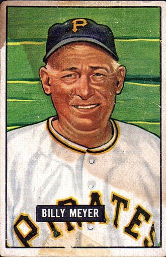 Billy Meyer - Meyer as depicted in a baseball card by Bowman Gum, 1951