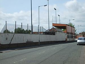 Bilston Town F.C. - The exterior of the Queen Street ground
