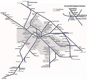 Urban rail in the United Kingdom - The West Midlands rail network