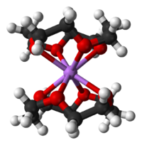 Ball-and-stick model of the bis(12-crown-4)lithium cation
