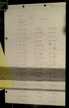 black chamber cryptanalytic work sheet for solving japanese diplomatic cipher 1919