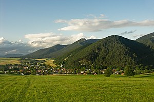 Blatnica, Slovakia - Blatnica on the foot of the Greater Fatra Range
