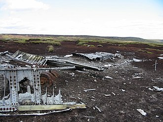 Bleaklow - General view of the aircraft wreckage