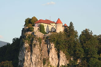 Bled Castle - View of Bled Castle from Bled