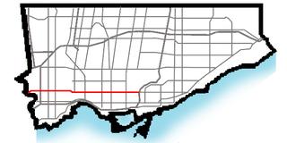 Bloor Street major thoroughfare in Toronto