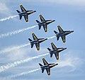 Blue Angels Flying in Delta Formation at Miramar.jpg