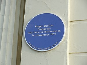 Roger Quilter - Blue plaque for Roger Quilter in Hove.