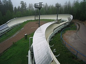 Altenberg bobsleigh, luge, and skeleton track - Omega Kurve