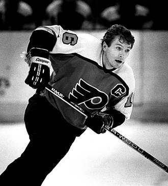 Bobby Clarke - Clarke playing for Philadelphia Flyers in 1983