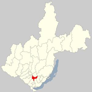 Боханский район на карте