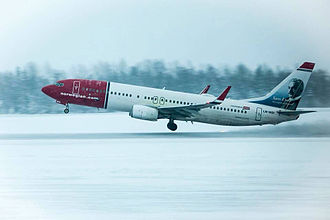 Harstad/Narvik Airport, Evenes - Norwegian Air Shuttle Boeing 737-800 taking off