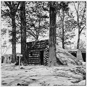 Battle of Fort Stedman - 1865 photograph at Fort Stedman by Timothy H. O'Sullivan.