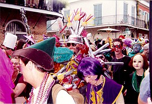 French Quarter Mardi Gras costumes - Revelers, French Quarter