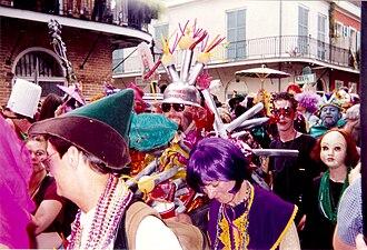 French Quarter Mardi Gras costumes - Revelers, French Quarter