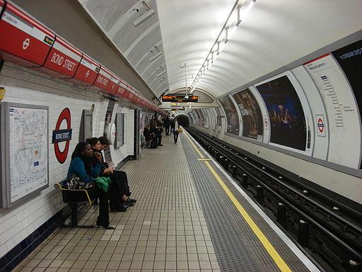 Bond Street tube Westbound Platform 1