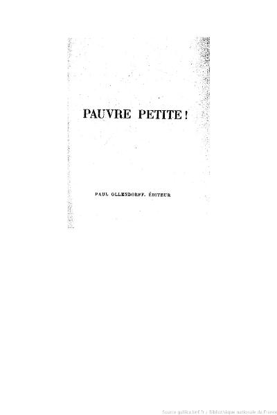 File:Bourget - Pauvre petite !, 1887.djvu