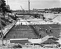 Bouw van IJtunnel, Noordelijke toegangsweg, Adelaarswegen te Amsterdam-Noord, Bestanddeelnr 915-2511.jpg