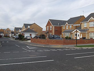Kingswood, Kingston upon Hull - Typical Kesteven estate housing, Bowmont Way (2008)