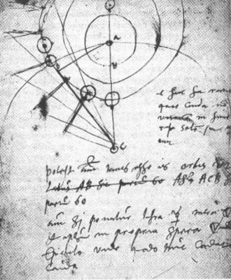 Great Comet of 1577 - Image: Brahe notebook
