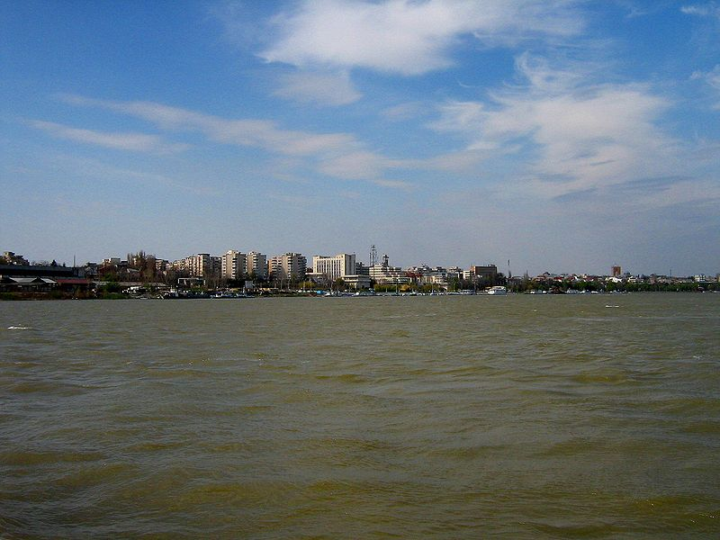 The Danube in Braila, romania