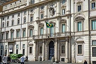 Palazzo Pamphilj palace in Rome, Italy