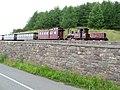Brecon Mountain Railway train entering Pant Station - geograph.org.uk - 1405095.jpg