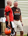 Brian Hoyer and Jimmy Haslam 2014 Browns Training Camp.jpg