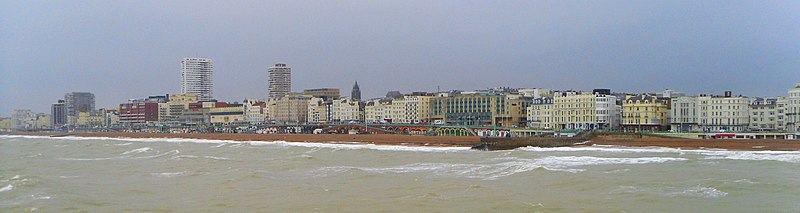 Brighton seafront from the Palace Pier