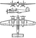 Bristol Buckingham 3-view Les Ailes February 1, 1947.png