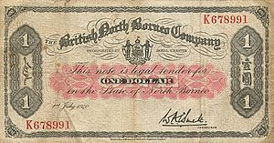 British North Borneo dollar - British North Borneo Company banknote of 1940.