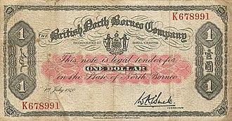British North Borneo dollar - British North Borneo Company banknote of 1940.