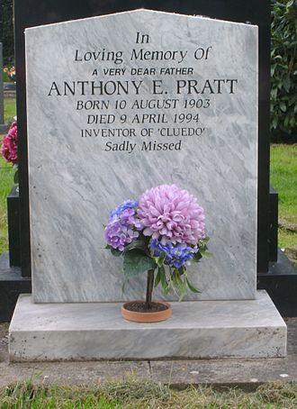 Anthony E. Pratt - Anthony Pratt's grave at Bromsgrove cemetery, Worcestershire