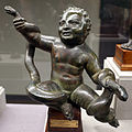 Bronzi di pipistrello (rosignano, 1565), ercole bambino che strozza i serpenti, 150 dc ca.JPG