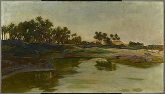 Elephantine - Island of Elephantine (Egypt) - Edwin Howland Blashfield. Brooklyn Museum