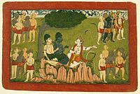 Brooklyn Museum - Rama and Lakshmana Confer with Sugriva about the Search for Sita Page from a Dispersed Ramayana Series.jpg