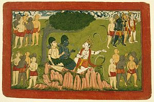 Sugriva - Rama and Lakshmana confer with Sugriva