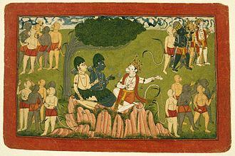 Sugriva - Rama and Lakshmana confer with Sugriva