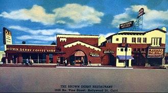 Brown Derby - Hollywood Brown Derby restaurant at 1628 North Vine