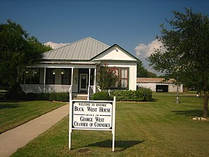 George West, Texas - Buck West House in George West is also the chamber of commerce welcoming center
