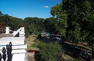 Lezama Park urban park in Buenos Aires, Argentina
