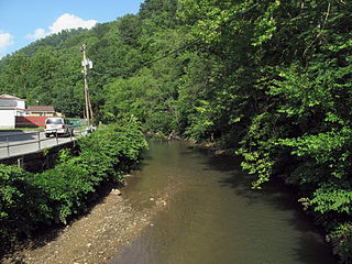 Buffalo Creek (Guyandotte River tributary) river in West Virginia, United States of America - Geonames ID = 4800659