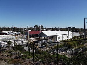 Bundamba railway station - Southbound view in September 2012