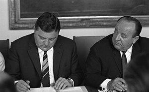 Hermann Höcherl - Höcherl (r.) and Franz Josef Strauss, 1965