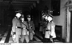 Schutzpolizei (Nazi Germany) - The Bremen Schutzpolizei is inspected by the chief of the Ordnungspolizei Kurt Daluege 1937.