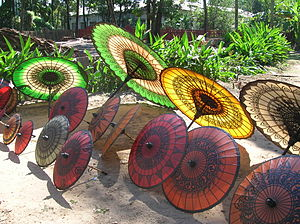 Pathein - Locally made parasols