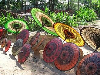 Pathein - Locally made parasols